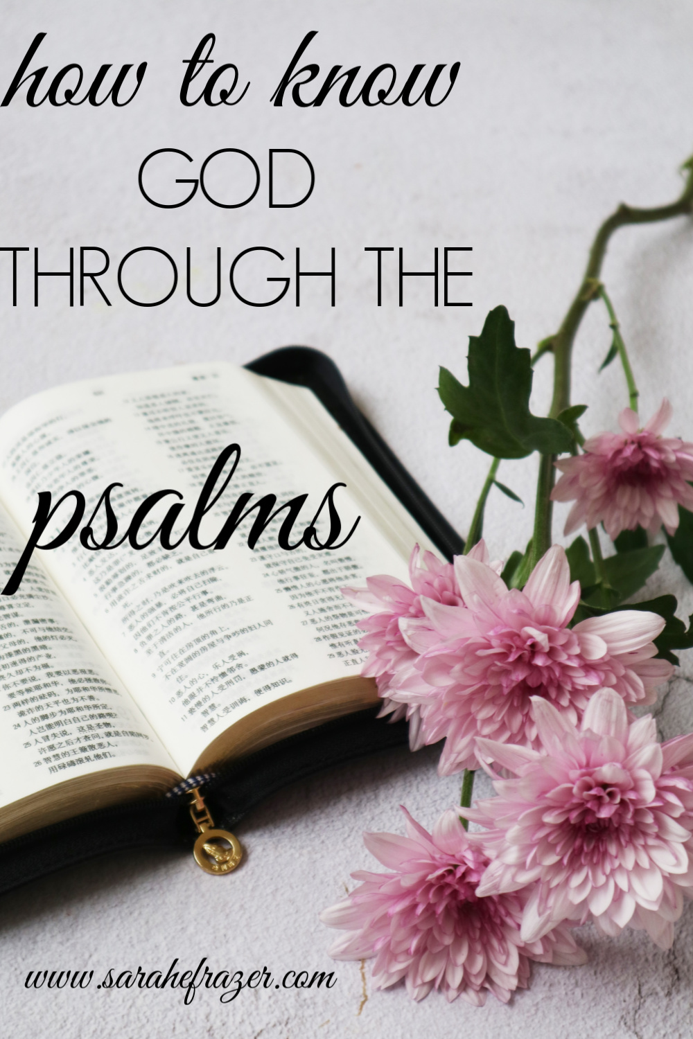 How to Know God Through the Psalms