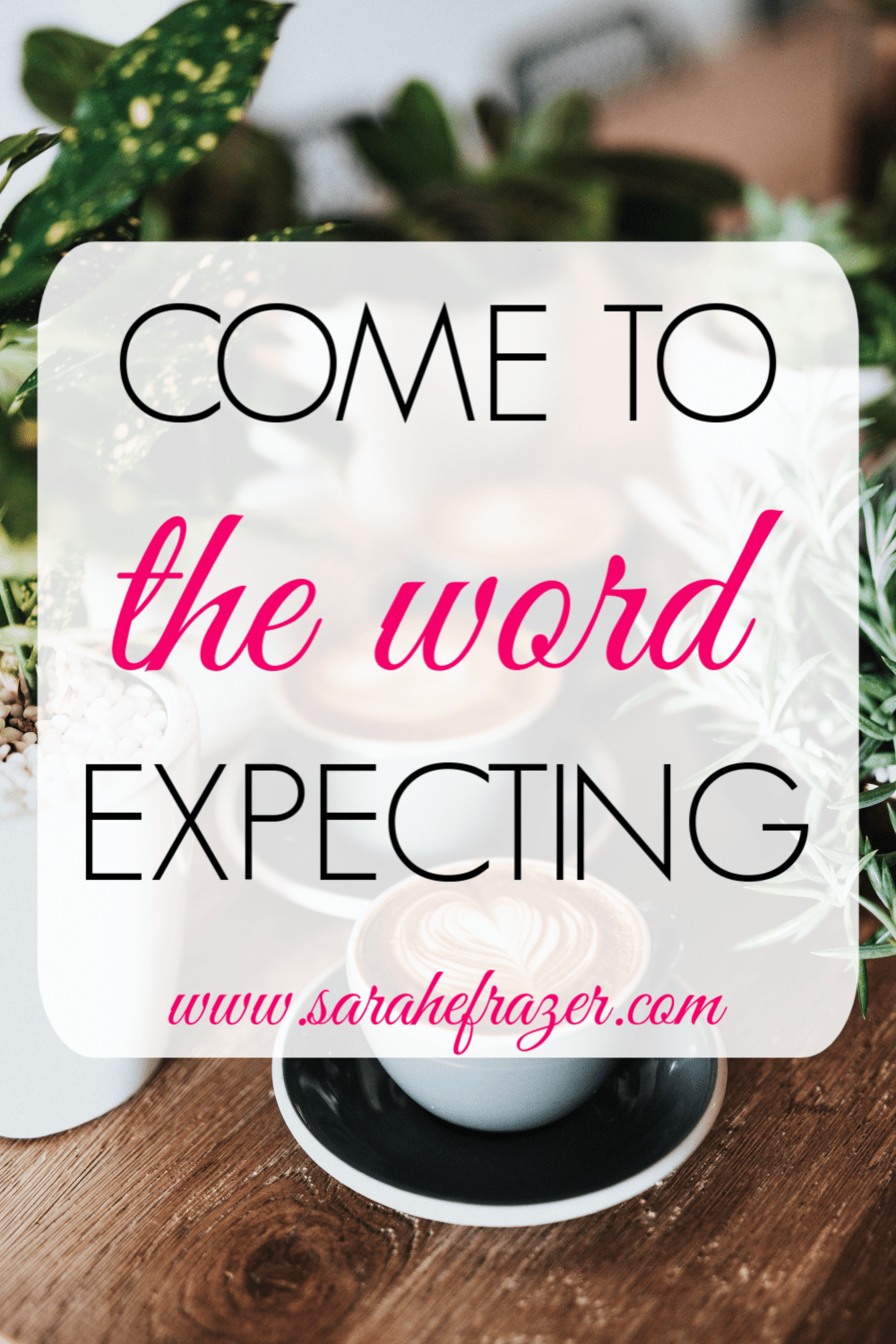 Coming to the Word Expecting