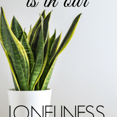 How God Is In Our Loneliness