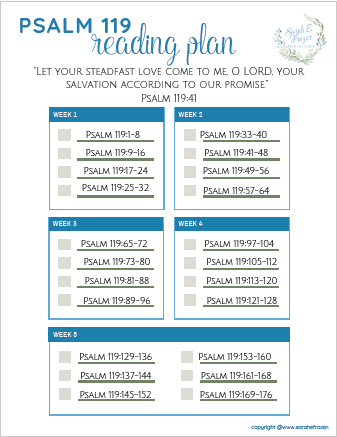 A Bible Reading Plan for Psalm 119