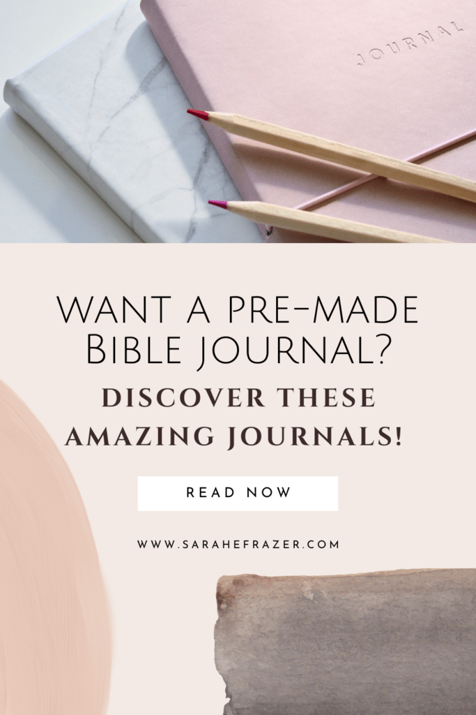 Pre-made Bible journals